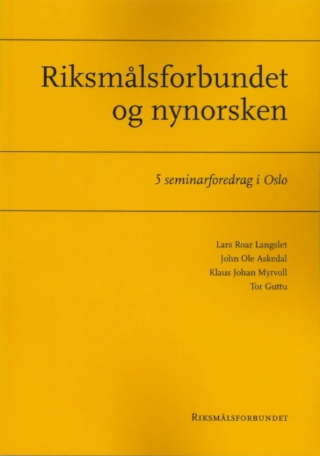 Riksmålsforbundet og nynorsken